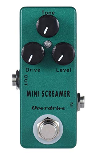 Mosky Mini Screamer Guitar Effect Pedal with Overdrive Function Zinc-aluminium Alloy Body