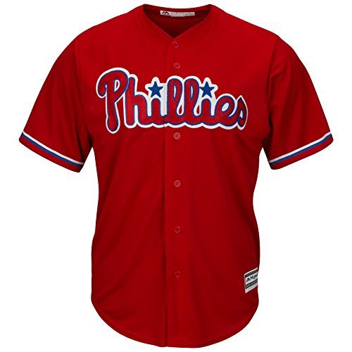 Philadelphia Phillies Youth Cool Base Alternate Team Jersey Red (Youth Large 14/16)