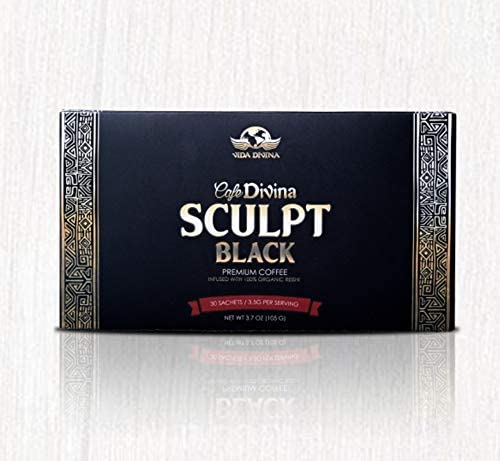 Cafe Divina SCULPT BLACK - PLAN 30 días - Supresor del Apetito - Control y PERDIDA de PESO