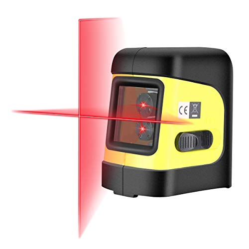 Firecore F112R Self-Leveling Horizontal/Vertical Cross-Line Laser Level with Magnetic Bracket