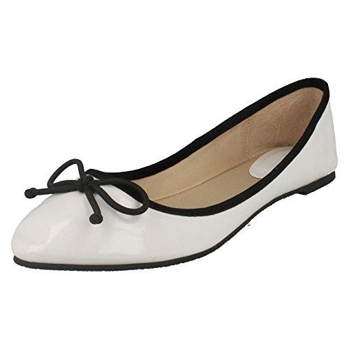 Hvit Flat Tå Ballerina Spiss Ballerina Flat Tå Spiss avqS1S