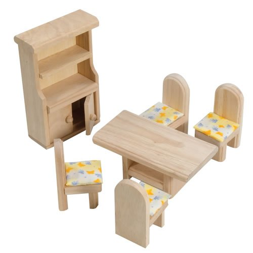 Plan Toys Dining Room Classic Furniture Play Set
