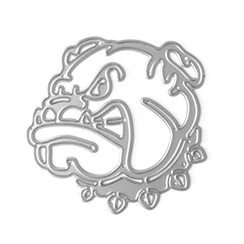 Bottone Metal Cutting Dies Stencil Template Mould Stencil Cut Dies For DIY Scrapbook Album Paper Card Craft Embossing Decoration Dog