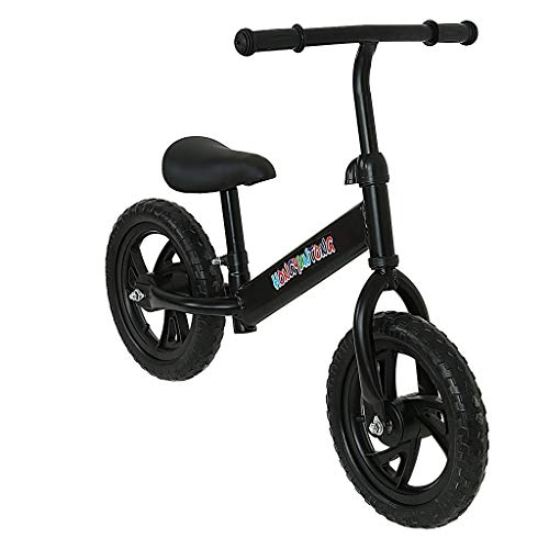 Ama-store Kids Balance Bike, Kids Training Bicycle 12 Inch Children No-Pedal Learn to Ride Bike Walking Partner Steel Frame & Inflatable Rubber Tires