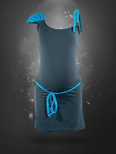 titoon® - Robe de grossesse et d'allaitement - A Caribbean Bee - turquoise, asymétrique, originale - Avant-Pendant-Après grossesse
