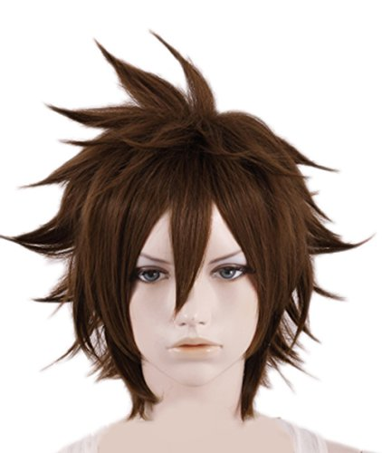 Price comparison product image Sora Wig Short Kingdom Cosplay Costume Heart Accessory Prop (Sora Wig)