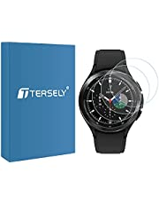T Tersely (3 Pack) Screen Protector for Samsung Galaxy Watch 4 Classic 42MM, 9H Hardness Tempered Glass Screen Protector Film Guard for Samsung Galaxy Watch 4 Classic 42MM