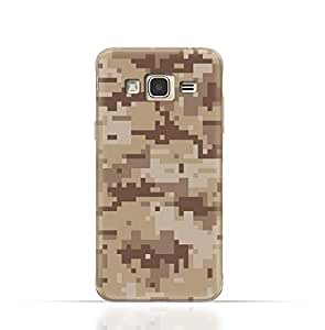 Samsung Galaxy Grand 2 TPU Silicone Case with Desert Military Camouflage Design