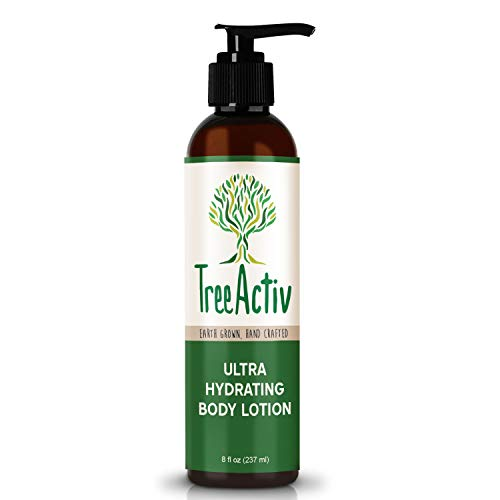 TreeActiv Ultra Hydrating Body Lotion 8 fl oz, Daily Moisturizer For Dry, Cracked, Scaly, Crepey Skin, Replenish Moisture & Prevent Wrinkles, Pumpkin Butter, Shea Butter, Honey, Cotton Thistle