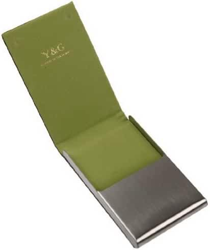 YDC06 Best Card Holder Black Leather Card Case Gifts For Designer By Y&G