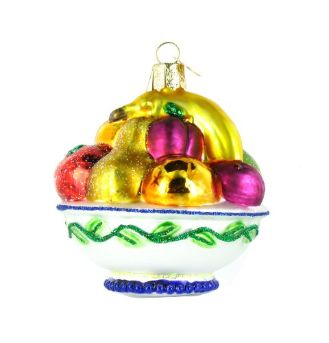 Old World Christmas Fruit Bowl Ornament (Glass Ornament Fruit)