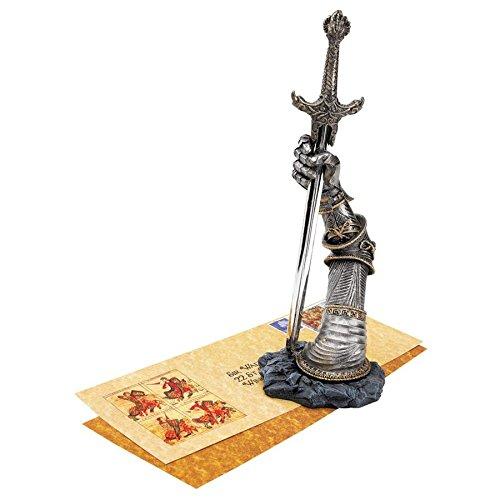 - Design Toscano King Arthur's Sword of Excalibur Letter Opener Desk Accessory Statue, 10 Inch, Polyresin, Pewter Finish
