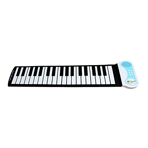 Sanmersen 37 Keys Soft Silicone Flexible Sensitive Children Kids Electronic Piano Keyboard Organ Roll-up with Louder Speaker for Beginner Musical Instruments Educational Toy Gift