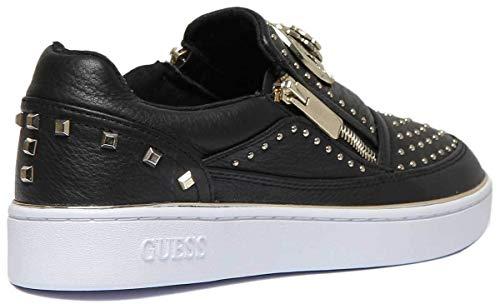 Sans Guess Fl5beelea12 Noir Lacets Femme Chaussures Sneakers q00HS