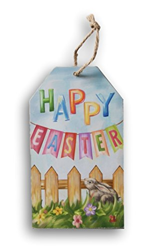 Easter Wooden Painted Happy Easter Decor Sign - 4.5 x 8