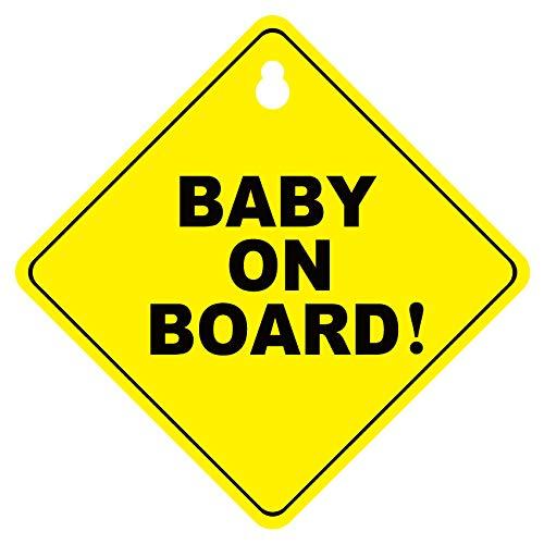 keine verblassen abnehmbare Auto Aufkleber Sicherheit Zeichen Double Sucker Aufkleber f/ür Auto Ylinova 4 Pack Baby an Bord Zeichen