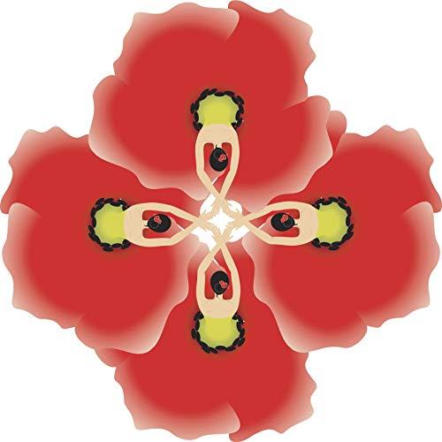 EW Designs Cute Pretty Abstract Kaleidoscope Orchid Flower Art Vinyl Decal Bumper Sticker (12