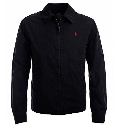 Polo Ralph Lauren Men's Landon Cotton Poplin Windbreaker Jacket, Polo Black, XL - Mens Poplin Jacket