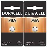 2x Duracell 76A 1.5V Alkaline Battery Replacement LR44,CR44,SR44,AG13,A76,PX76