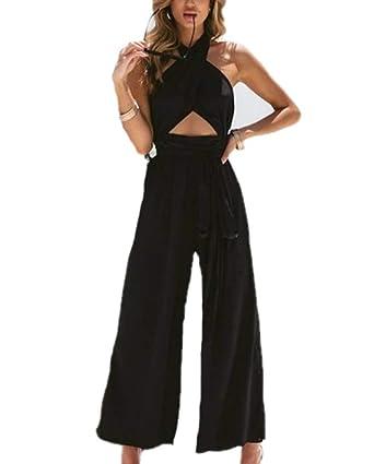 domorebest Pantalones De Cintura De Corbata Casual para Mujer ...