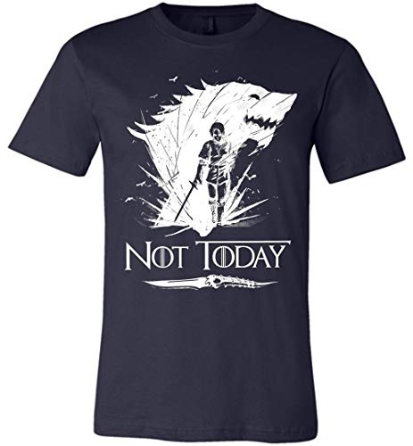 - Cool Not Today Game of Thrones GOT Canvas Unisex T-Shirt for Women Men Fans Gift Navy