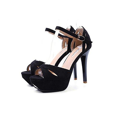 Tacón De Finos Zapatillas 5 EU Mujer Zapatos 11cm De Tacón Negro UK5 Tamaño Alto Banquete Tacones Zapatos de Alto Y Baile Elegante Color Zapatos Sandalias Fiesta 38 DALL Negro Sexy De CN38 De v7qOOZ