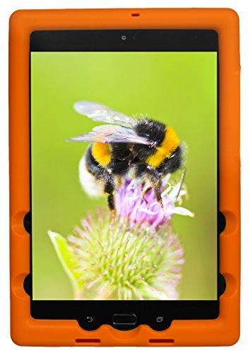 Bobj Rugged Case for ASUS ZenPad Z8S, P00J - BobjGear Custom Fit - Patented Venting - Sound Amplification - BobjBounces Kid Friendly (Outrageous Orange)