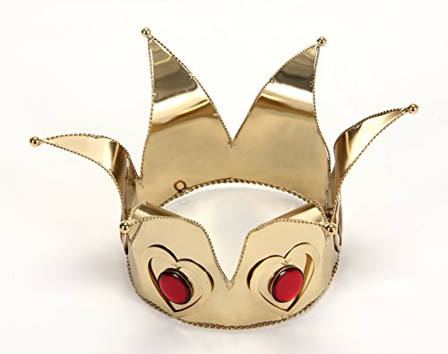 Alice Queen Of Hearts Costumes (Gold Queen of Hearts Crown by elope)