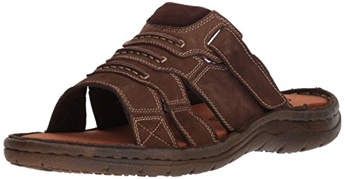 (Propet Men's Jace Slide Sandal, Coffee, 9 5E US)