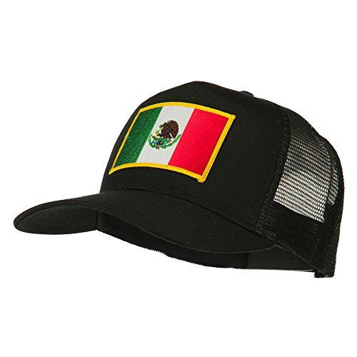 E4hats Mexico Flag Patched Mesh Cap - Black ()