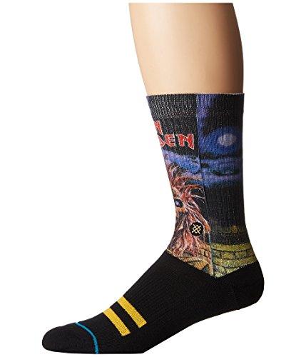 Stance Men's Iron Maiden Crew Sock, Black, L