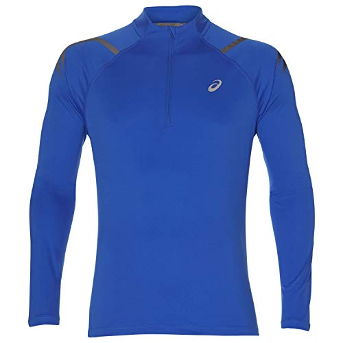 Para Asics 2 Ls Camiseta Ss19 Icon Cremallera 1 Azul Correr rCrwYqx