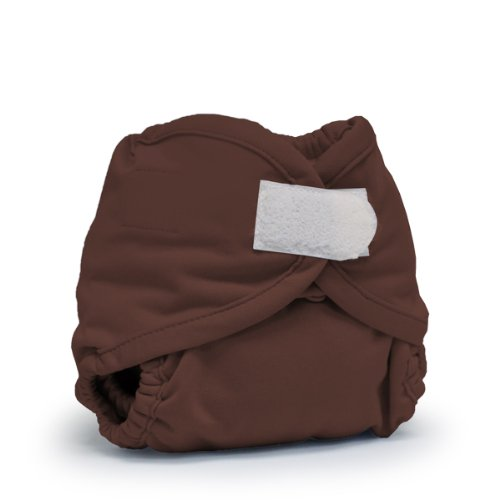 Rumparooz Newborn Cloth Diaper Cover Aplix, Root Beer