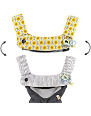 Premium Drool and Teething Reversible Cotton Pad   Fits Ergobaby Four Position 360 and Most Baby Carrier   Hypoallergenic   Great Baby Girl Shower Gift by Mila Millie