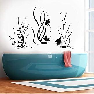 haotong11 Acquario Pesci Mare Oceano Stile Marino Adesivi murali Decorazioni per la casa per Bagno Vinile Decorazione Nautica Decalcomanie Moder 85 * 57 cm