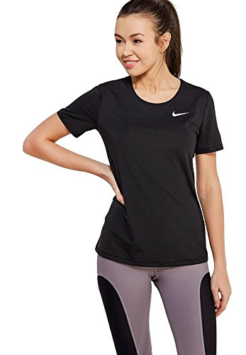 Pro Short Sleeve Top (Nike Pro Women's Short-Sleeve Training Top (Black, XS))