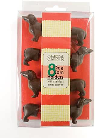 Charcoal Companion Dog Corn Holders (8 Pieces) - Perfect Gift For Dachshund Lovers - CC5009.