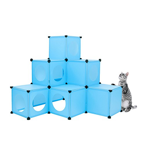 FrontPet Cat Condo/Blue XL Modular 109 Piece Cat Condo/Cat House/DIY