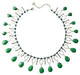 Anthropologie Teardrop Bib Necklace Emerald by Serefina $78 - NWT