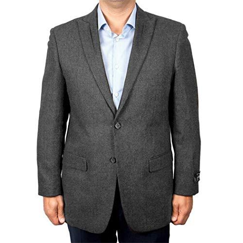 - ZeGarie Mens Grey Gray 2 Button Slim Fit Wool Sport Coat Jacket Blazer New (40L Regular)