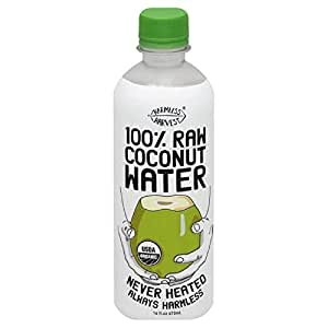 Harmless Harvest Organic 100 Percent Raw Coconut Water, 16Ounce -- 12 per case.