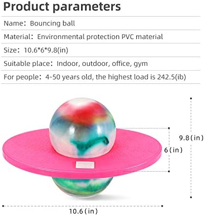 Rainbowpink FURTHERNEXT Pogo Ball with Trick Board /& Ball Pump Great Gift for Kids Pogo Jumper Toy by Air Kicks for Kids Ages 6 /& Up and Adults