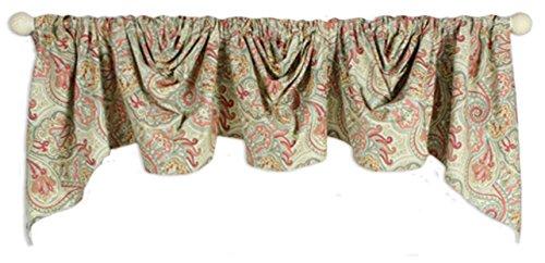 Paddock Shawl 3 Scoop Lined Empire Valance Curtain (Flint)
