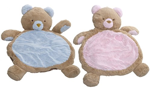 Mary Meyer Bestever Baby Mat, Blue Bear & Pink Bear Twin Pack