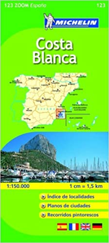 Zoom In Map Of Uk.Costa Blanca Michelin Zoom Map 123 Michelin Zoom Maps Amazon Co
