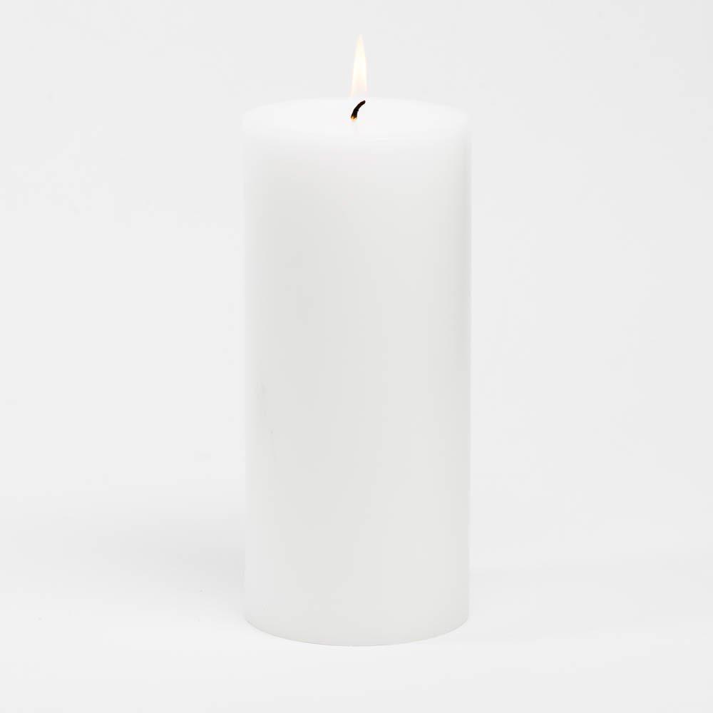 Richland 4'' x 9'' White Pillar Candles Set of 6