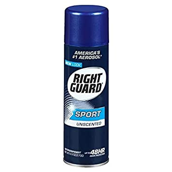 Right Guard Sport Anti-Perspirant, Unscented, 6 oz Pack of 3