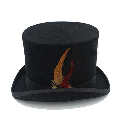 Uomo Hu 100 Con Donna 1 In Cappellaio Fedora Shuo Piuma New Steampunk Cappello Lan Lana Wai zq0nxTwB