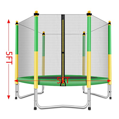 Fashionsport OUTFITTERS Trampoline with Safety Enclosure -Indoor or Outdoor Trampoline for Kids-Yellow/Green-5 feet by Fashionsport OUTFITTERS (Image #3)