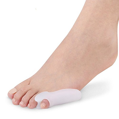 Silicone Last Toe Shield Sleeve Pad Cushion Bunion Toe Spacers Splint Separator Stretchers Little Toe Aid Toe Separators Alignment Pain Relief Spreading Gel Bunion Shield(1 (Toe Aid)